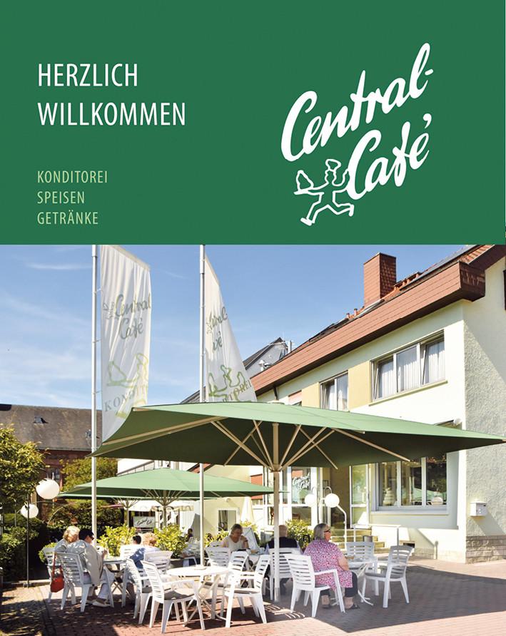 Titelbild Central Café Speisen- und Getränkekarte